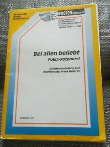 Bei allen beliebt Polka Potpourri Noten Blasorchester Blasmusik Musikverein