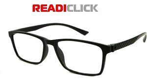 UNISEX Reading Glasses Ladies Mens Ready Readers MODERN FANCY Black Plastic