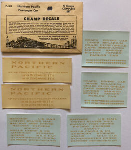 CHAMP O DECAL - NORTHERN PACIFIC / NP PASSENGER CAR - DULUX GOLD- Item #P-53
