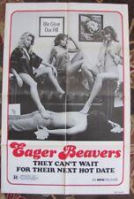 EAGER BEAVERS Swinging Barmaids SEXPLOITATION Laura Hippe r80 1sh MOVIE POSTER