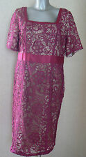 BERKERTEX Lace Guipure Dress Pink UK Size 14 Special  Occasion NEW TAGS