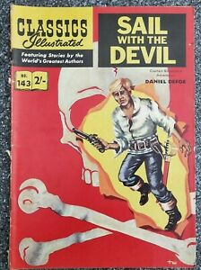 Classics Illustrated comic #143 Sail with the Devil Australian/UK edition