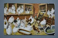 R&L Postcard: Novelty Multiple Children Cracking Eggs, Reading Eating Fantasy
