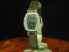 Omega geneve 18kt 750 circonitas funcionan fantastico + ribete de diamante calibre 484