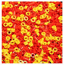 LEGO NEW Technic 100 pcs RED YELLOW BUSH Bushing 1/2 Axle Connector Part Piece