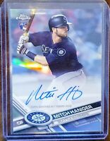 2017 Topps Chrome Mitch Haniger Rookie Auto Refractor #/499 - Seattle Mariners