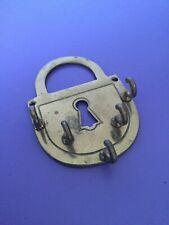 Vintage Brass Key Hook. Padlock