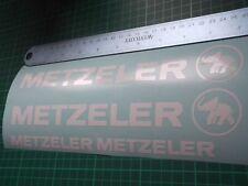Metzeler Cut Vinyl Decal Sticker x4. 7 años De Vinilo
