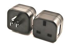 Vct Vp18 Uk to Usa Plug Adapter Converts 3 pin British Plug to 3 Prong Ground.