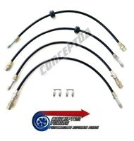Braided Brake Lines Front & Rear Hose Set - BMW 3 Series E46 All Models + M3