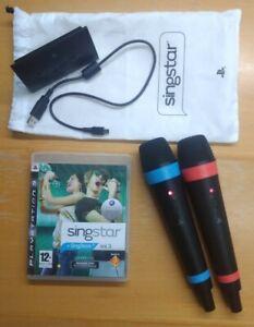 PS3 Singstar Mikrofone Wireless mit Beutel plus Singstar Vol. 3 (selten)