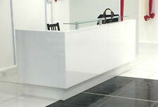 Reception Desk,white  gloss,glass on top,RECEPTION DESK COUNTER,WHITE RECEPTION