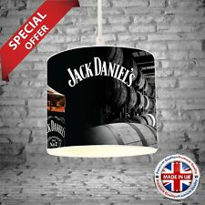 Jack Daniels RETRO Bedroom SET 2 x Large Lampshades + 1 x Black Out Blind