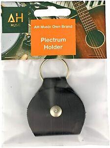 AH Music Plectrum Holder 🎸 Leather Pick Keyring Holder: Gigbag Plectrum Pouch