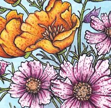 Specked Flower Copic Marker Tutorial Class learn to color stamping lot technique
