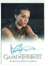 Game of Thrones Season 6 Autograph Card Hannah John-Kamen as Ornela