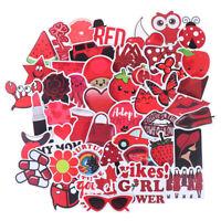 50Pcs Cartoon Red Girls Stickers DIY Suitcase Laptop Guitar Bicycle Car CWY