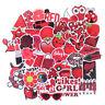 50Pcs Cartoon Red Girls Stickers DIY Suitcase Laptop Guitar Bicycle Car Decal LD