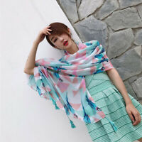 Women Printed Long Neck Shawl Scarf Wrap Tassel Muslim Hijab Scarves Gifts S