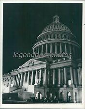 1941 Capitol Building During Partial Blackout Original News Service Photo
