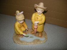 "Homco Denim Days Home Interiors 1999 ""Puddle Jumpers"" #88013-99 Figurine"
