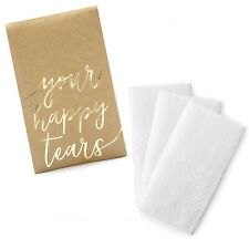 Rustic WEDDING TISSUES Your Happy Tears Tissue Pack - Wedding Tissues Favours