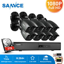 SANNCE 8CH 1080P HDMI DVR CCTV Home 3000TVL Security Camera System Motion Alert