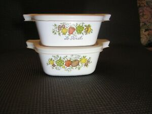 2 Corning Ware SPICE OF LIFE Casseroles/Petite Pans P-43-B, 2 3/4 Cup