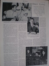 Photo article Senator for Louisiana Huey Long 1935
