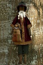 PATTERN Christmas Black Santa Claus Doll & Sack Crows