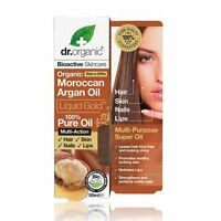 DR ORGANIC Moroccan Argan Oil 100% PURE OIL 50ml ( Liquid Gold Rich in EFA's )