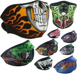 Boys Girls Kids Neoprene Face Mask Reversible Biking Skateboarding Sports Mask