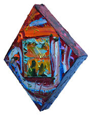 A MODERN EXPRESSIONIST ART SIGNED REALISM OIL PAINTING ABSTRACT OUTSIDER A FOLK