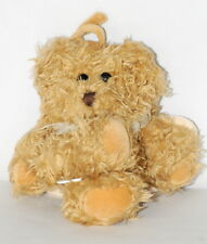 Kid II Musical Music Pull Crib Toy Furry Shaggy Teddy Bear Angel Wings Plush EUC