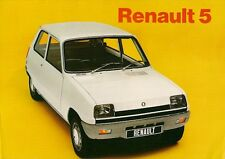 Renault 5 1972-73 UK Market Sales Brochure L TL