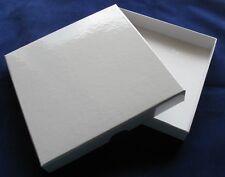 Wedding Invitation Boxes White Gloss Rigid 10 SOLID 150 x 150 x 23mm Gift Boxes