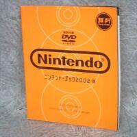NINTENDO BOOK 2002 w/DVD Game Cube Game Boy Advance Catalog Guide Ltd *