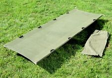 Belgian Army Camp Bed Military Issue Folding Camping Cot Bed Strong & Compact