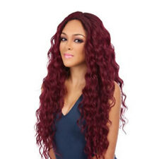 Full Wig Long Curly Straight Synthetic Hair With Blonde Black Wigs Women Ladies