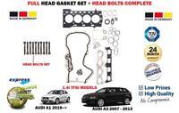 FOR AUDI A1 A3 1.4 TFSI 122BHP 185BHP 125BHP HEAD GASKET SET + BOLTS COMPLETE