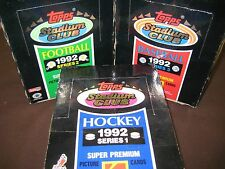 1992 STADIUM CLUB BASEBALL,FOOTBALL & HOCKEY UNOPENED SEALED WAX BOXS 108 PACKS