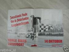 P52 POSTER FINALE RACES ZANDVOORT 14 OKTOBER 1974  TOERWAGENS