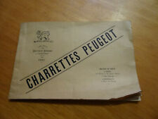 Original Charrettes Peugeot Katalog 1892 , guter Zustand