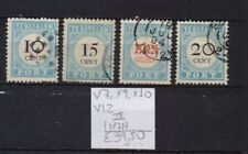 ! Netherlands 1817. Postage Due Stamp. Yt#X7,X9,X10,X12. €39.50 !