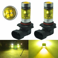 2x 9006 HB4 100W LED Cree XBD Projector Fog Driving DRL Light Bulbs 4300K Yellow