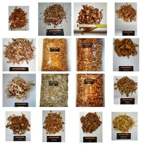 Wood Chips / Räucherchips für ihr BBQ 1Kg Ca.4 Liter Hickory, Buche, Apfel,