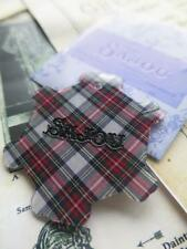 Sajou French Luxury Thread Card Winder- Mauchaline Ware Scottish Tartan