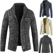 Herren Warm Knopf Pullover Strickjacke Wintermantel Jacke Oberbekleidung