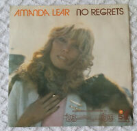 NO REGRETS - AMANDA LEAR - 45 GIRI 1983 ARIOLA/CGD ARL 37109