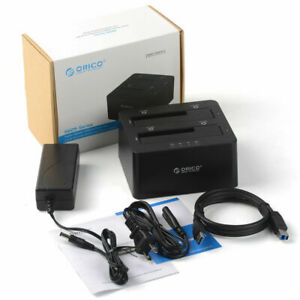 ORICO 2-Bay USB 3.0 Hard Drive Docking Station for 2.5/3.5'' HDD/SSD (6629US3-C)